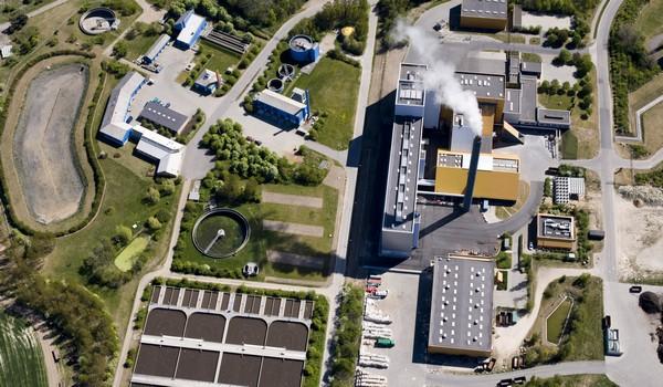 Erhvervsområde ved Ydernæs i Næstved. Foto: Cowi/Næstved Kommune