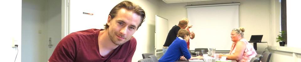 William Mikkel Hansen fra Willmedia på iværksættercafé i Næstved