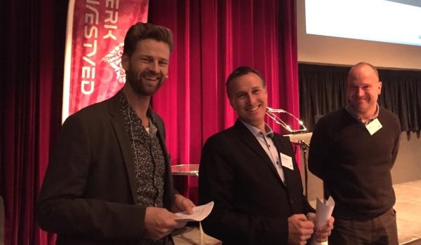 Tre tilfredse arrangører: Direktør Rasmus Holst-Sørensen fra Næstved Erhverv, borgmester Carsten Rasmussen og konsulent Jan Kanne fra Næstved Kommune.